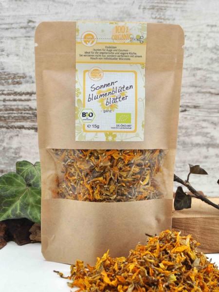 Bio Sonnenblumenblütenblätter - getrocknet