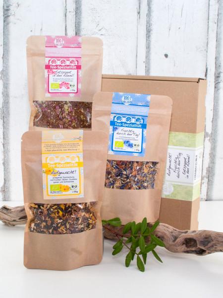 3er Bio Tee-Probierset - Geschenkset mit Morgen-, Mittag- und Abendtee
