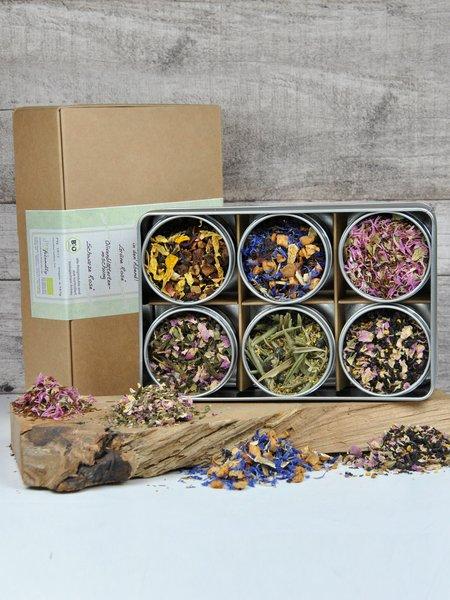6er Bio Tee-Geschenkbox - für große Teeliebhaber mit 6 verschiedenen Teesorten