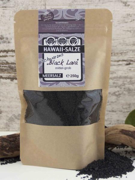 Schwarzes Hawaiisalz - Black Lava