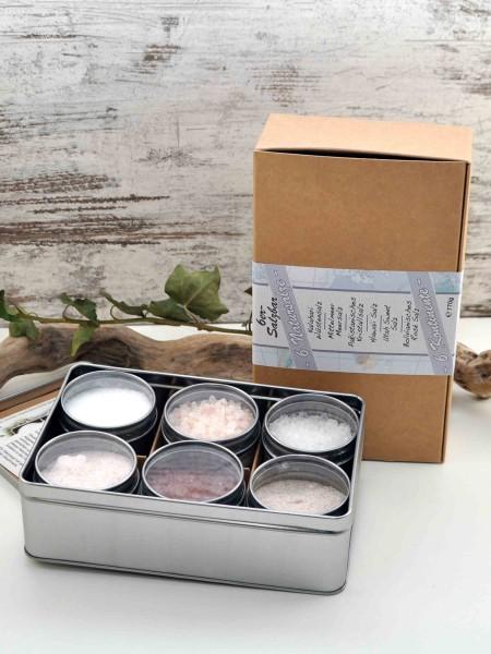 6 Kontinente Salze - Geschenkset mit Natursalzen aus aller Welt
