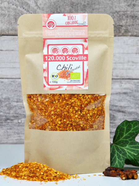 Bio Chili extra scharf - geschrotet, 120.000 SCU