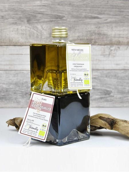 Duett - Bio Geschenkset mit Balsamico und Olivenöl