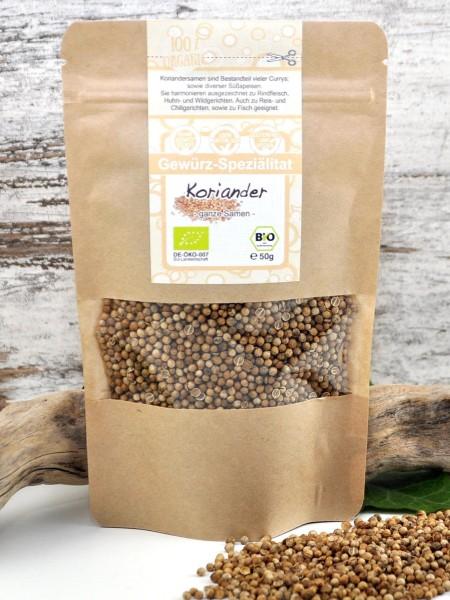 Bio Koriandersaat - ganze Samen