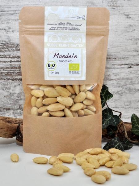 Bio Mandeln - ganze, süße - blanchiert