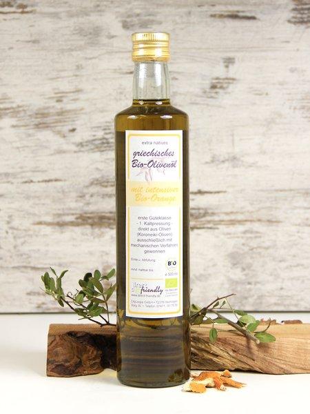 Griechisches Bio Olivenöl mit Orange