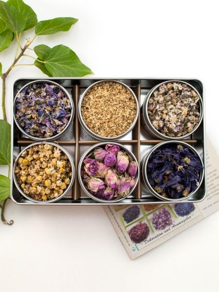 Kleiner Bauerngarten - Bio Geschenkset mit verschiedenen Bio Essblüten