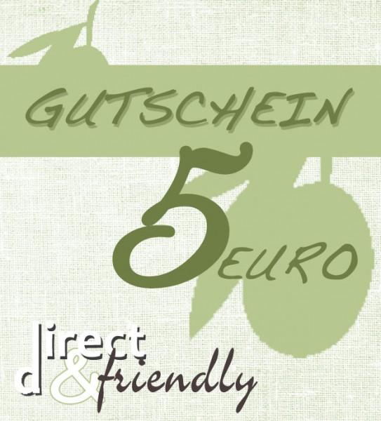 Gutschein 5 Euro