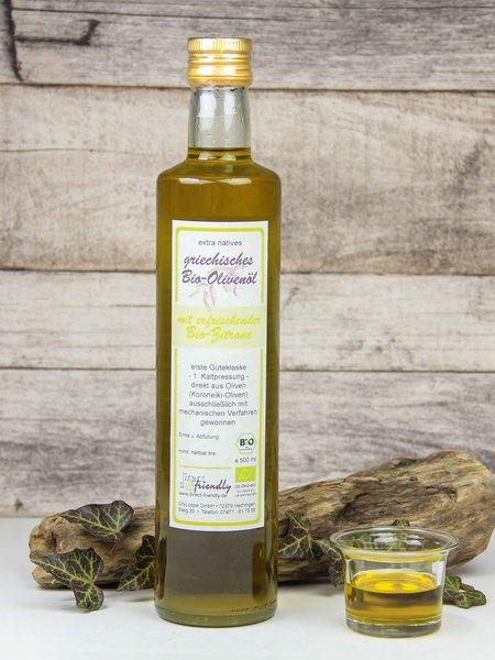 Griechisches Bio Olivenöl mit Zitrone