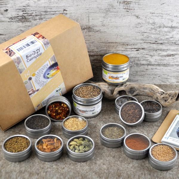 Bio Curry Set mit 14 verschiedenen Gewürzen