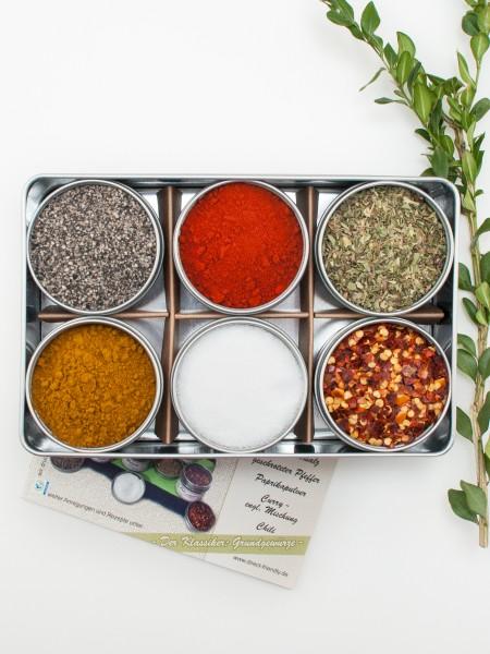 Kochset - Bio Geschenkset mit Salz, Pfeffer, Kräutern und Gewürzen