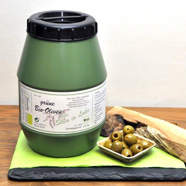 Grüne Bio Oliven - ohne Stein - in Lake