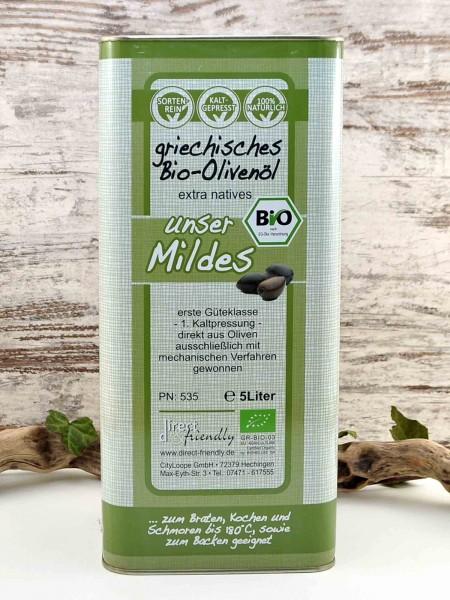 Griechisches Bio Olivenöl extra nativ - das Milde