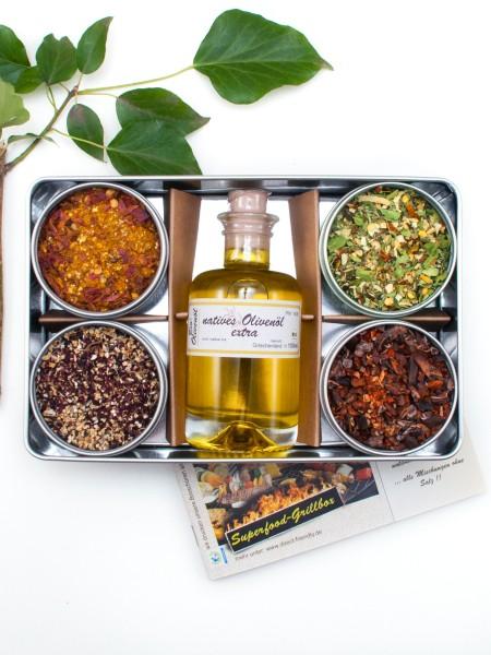 Superfood Grillset - Bio Geschenkset für Rubs, Marinaden und Glasuren