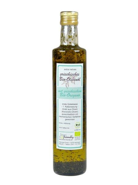 Griechisches Bio Olivenöl mit getrocknetem Oregano