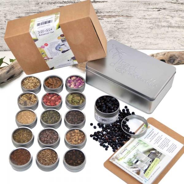 Bio Gin-Botanical DIY-Set - Geschenkset mit 16 Botanicals